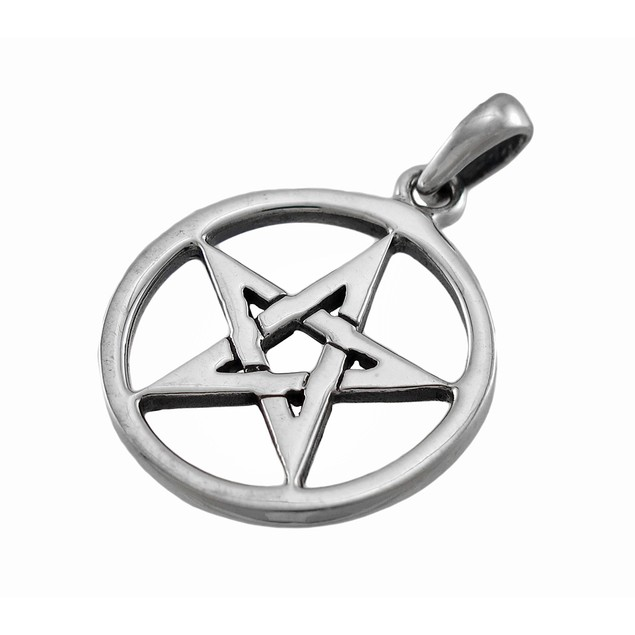 Sterling Silver Pentacle Pendant Charm Pagan Wicca Womens Pendants