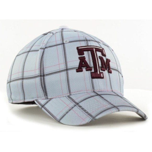 """Texas A&M Aggies NCAA TOW """"Fuse Plaid"""" Stretch Fitted Hat New"""