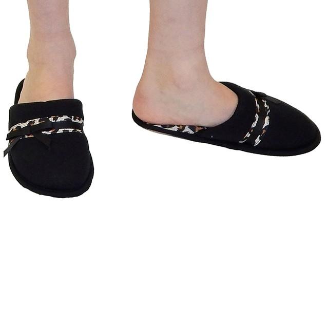 Vecceli Italy Designer Slippers - Black Leopard