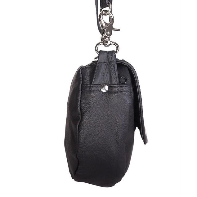 Afonie Motorcycle Genuine Leather Hobo Bag