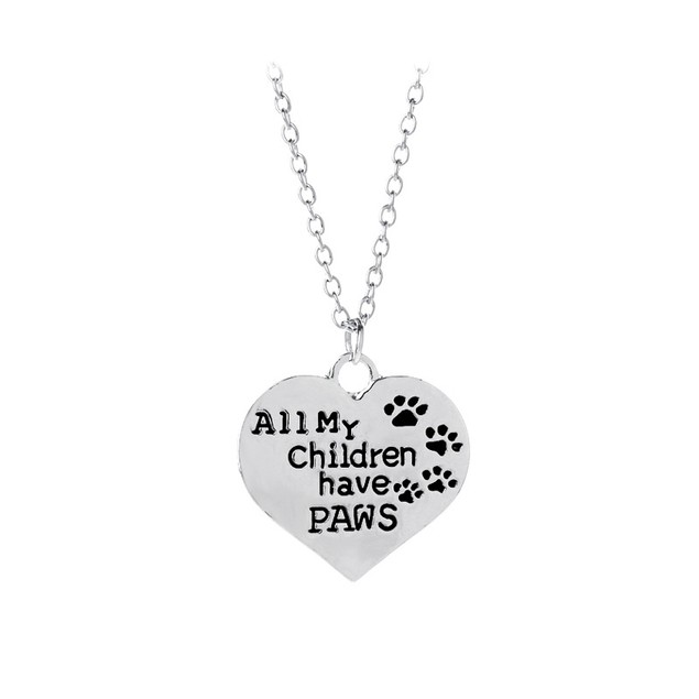 All My Children Have Paws Necklace