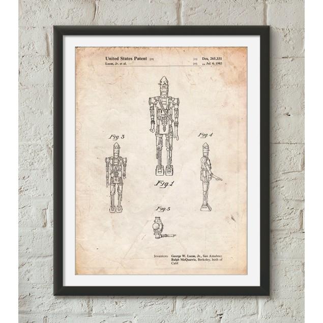 Star Wars IG-88 Patent Poster