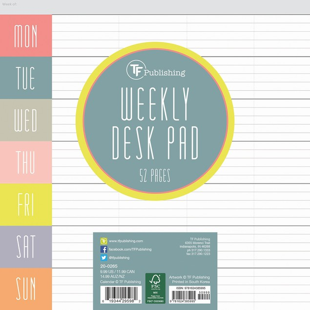 Glory Days Weekly Desk Pad