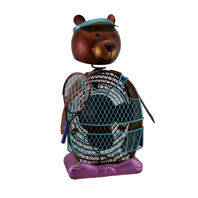 Deco Breezetennis Bear Decorative Metal Figurine Statues