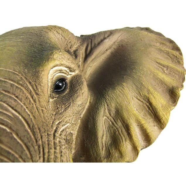 African Elephant Head Mount Wall Statue Mini Bust Wall Sculptures