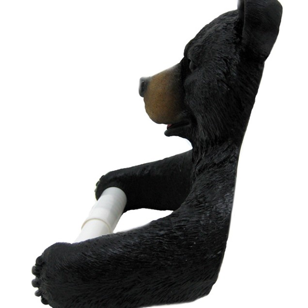 Cute Black Bear Cub Toilet Paper Roll Holder Toilet Paper Holders