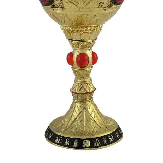 Egyptian Pharaoh Golden Wine Goblet 6 Oz. Goblets