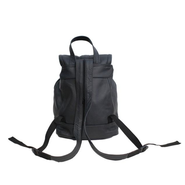 Genuine Leather Backpack with Convertible Strap - Assorted Colors