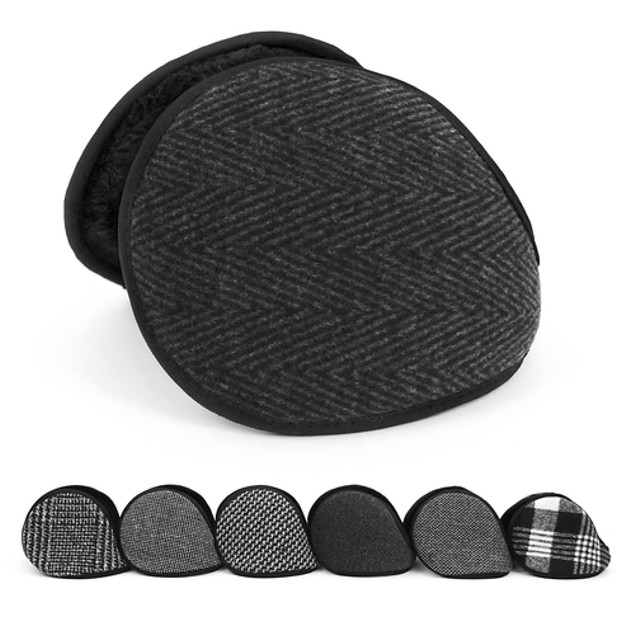 2-Pack: Sherpa Lined  Behind-the-Head Adjustable Ear Muffs