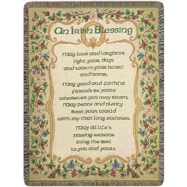 An Irish Blessing Tapestry Throw Blanket 51 X 68 Throw Blankets