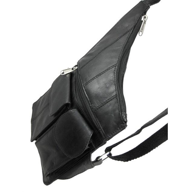 Black Sheep Leather Cross-Body Travel Bag Mens Cross Body Bags