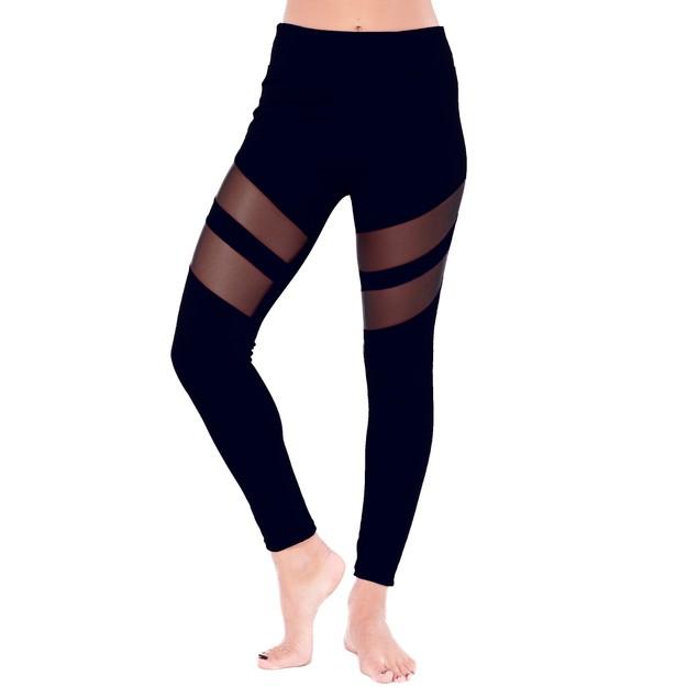 Electric Yoga Tummy Tuck Mesh Racer Legging