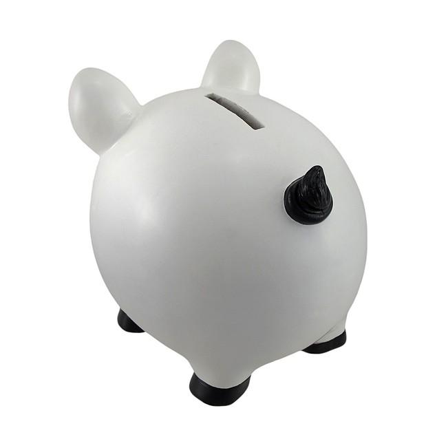 White Piggy Coin Savings Piggy Bank Toy Banks