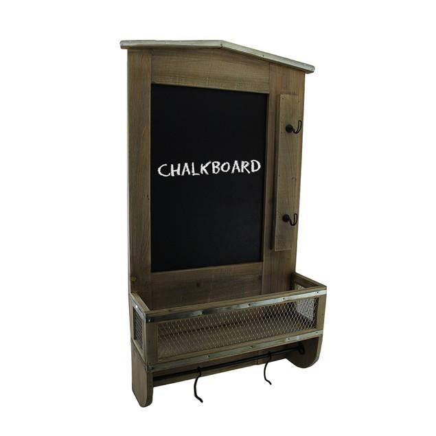 Rustic Wall Mounted Wooden Chalkboard Organization Chalkboards