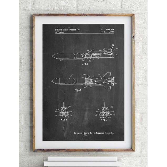 NASA Space Shuttle Enterprise Patent Poster