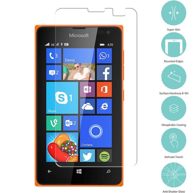 Nokia Microsoft Lumia 435 Tempered Glass Film Screen Protector Clear