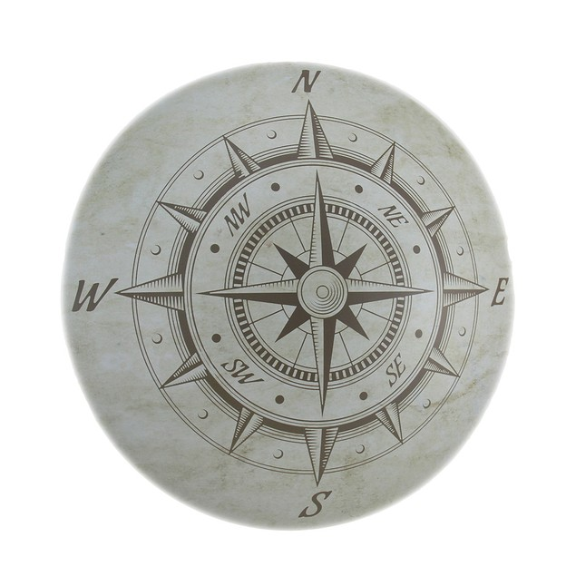 Nautical Compass Rose Decorative Metal Wall Plaque Decorative Plaques
