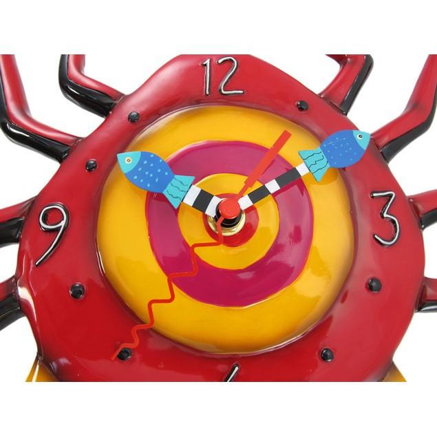 Allen Designs Crabby Sand Crab Pendulum Wall Clock Wall Clocks