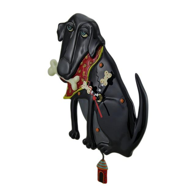 Allen Designs Parker The Dog Black Pendulum Wall Wall Clocks