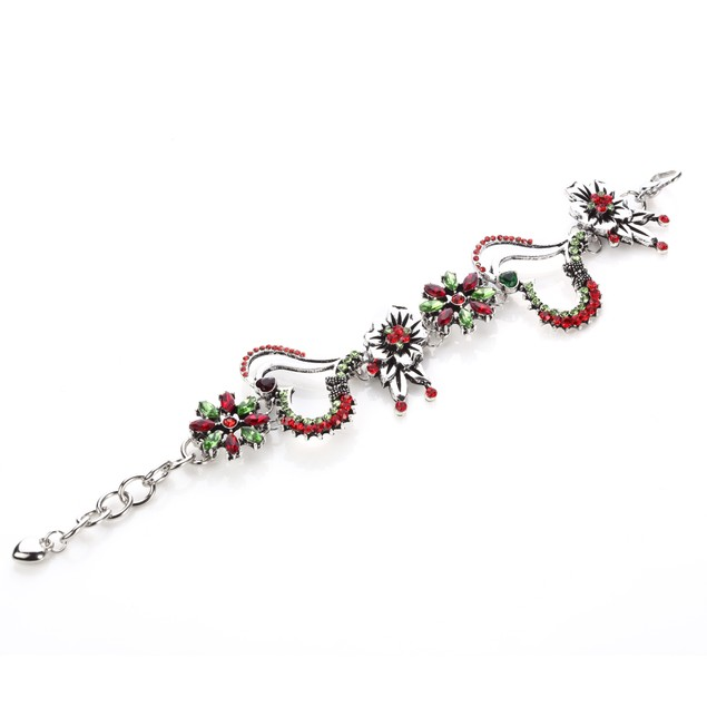 Blooming Love Intertwined Butterflu Bouquet Bracelet