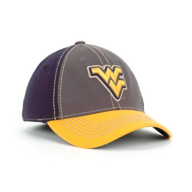 """West Virginia Mountaineers NCAA TOW """"Guru"""" Stretch Fitted Hat"""