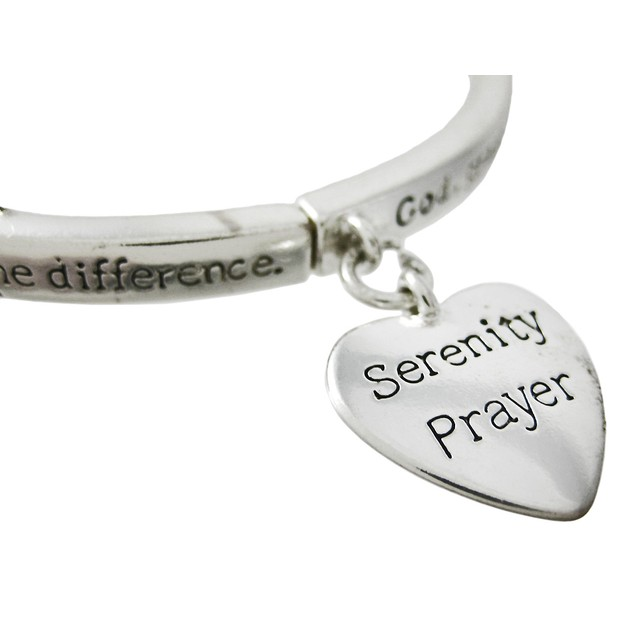 Serenity Prayer Affirmation Bangle Stretch Womens Bangle Bracelets