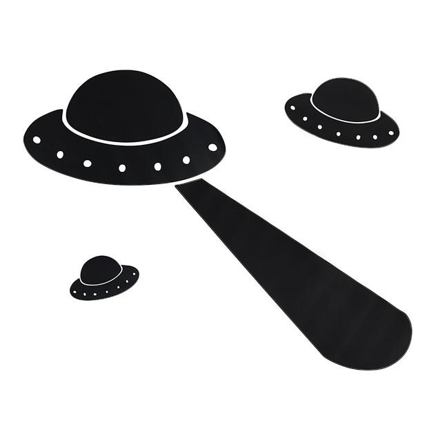Children`S Chalkals Alien Invasion Spaceship Wall Decor Stickers