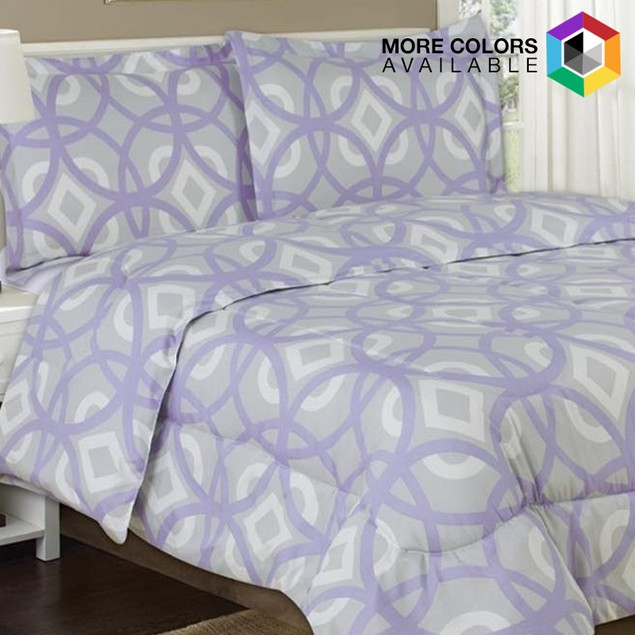 4-Piece Luxe Double-Brushed Printed Sheet Set