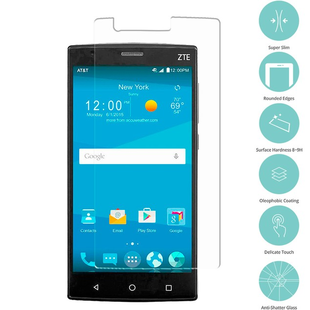 ZTE Zmax 2 Tempered Glass Film Screen Protector Clear