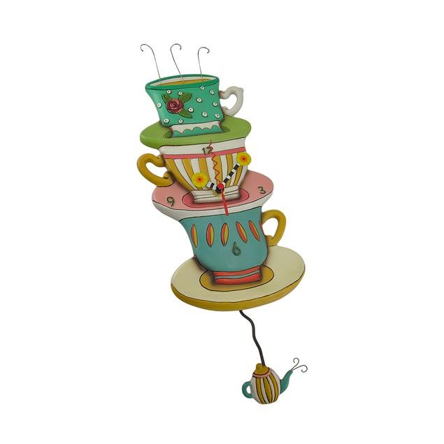 Allen Designs Spot Of Tea Whimsical Pendulum Wall Wall Clocks