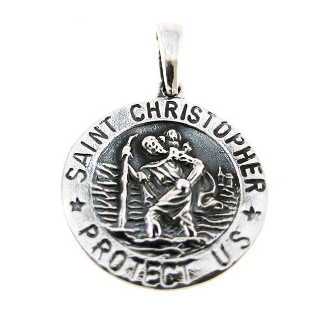 Sterling Silver St. Christopher Medal Saint Womens Pendants