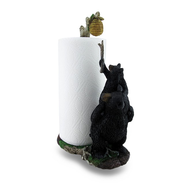 Sweet Tooth Bears Cast Resin Paper Towel Holder Paper Towel Holders