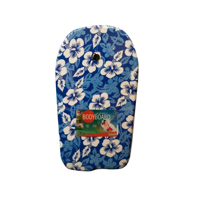Blue Patterns Bodyboard With Leash
