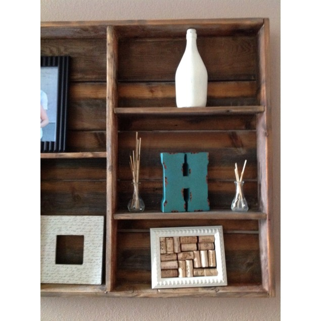 Large Reclaimed Wood Wall Shelf