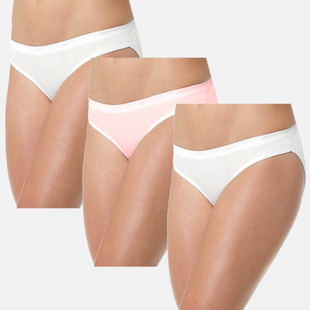 3-Pk Hanes Ultimate Womens Cotton Bikini Underwear