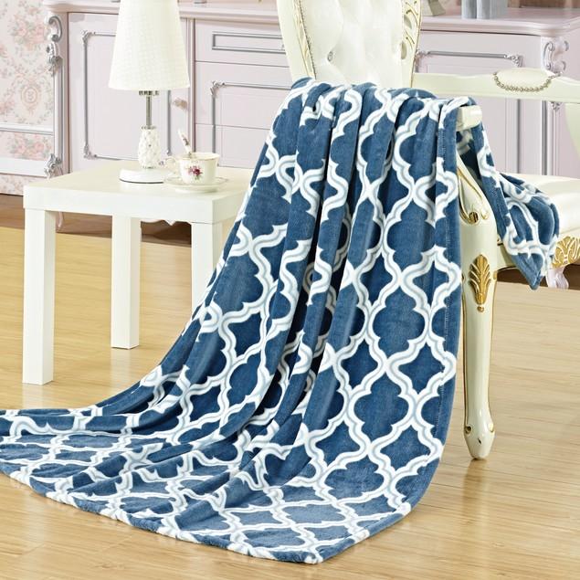 "Palace Linens Megan 50"" x 60"" Printed Plush Throw"