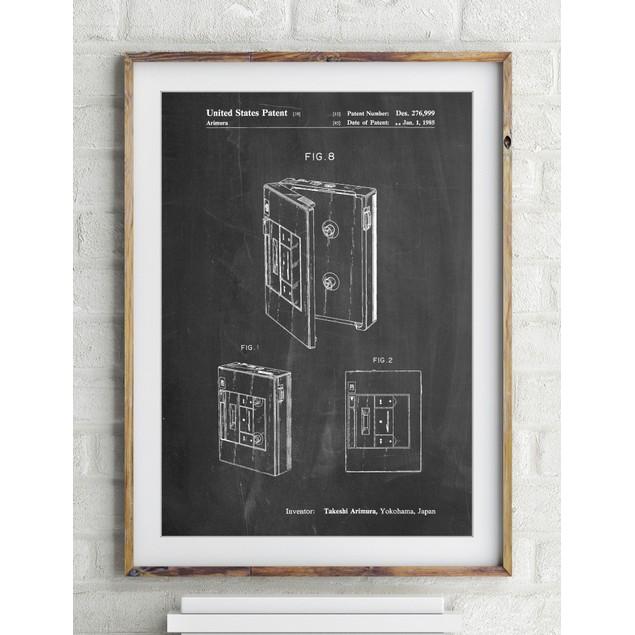 Toshiba Walkman Patent Poster