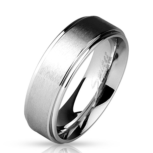 Stepped Edges with Brushed Finish Center Stainless Steel Ring