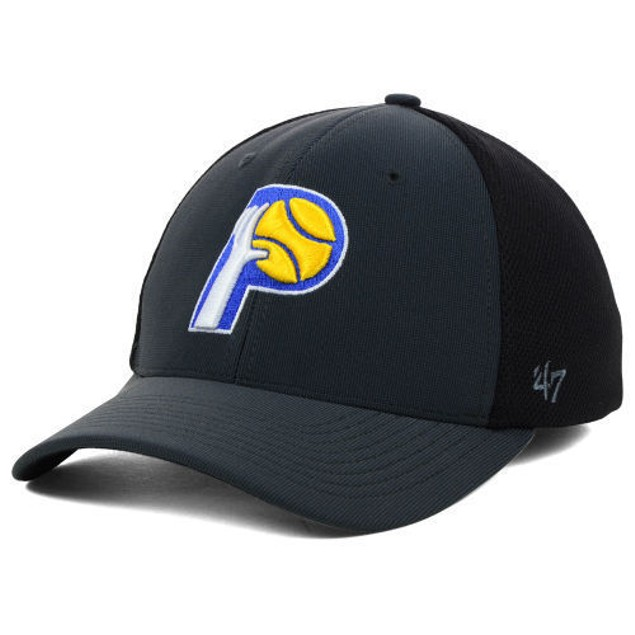 """Indiana Pacers NBA 47' Brand """"Winship Contender"""" Stretch Fitted Hat"""