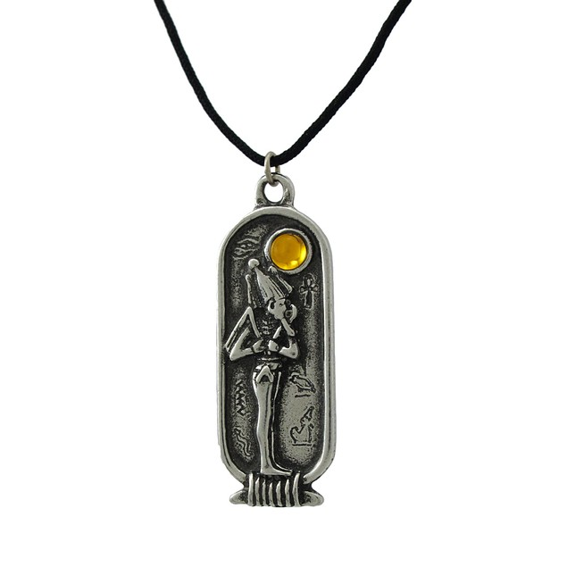 Egyptian Birth Sign Osiris Pendant Necklace March Mens Pendant Necklaces