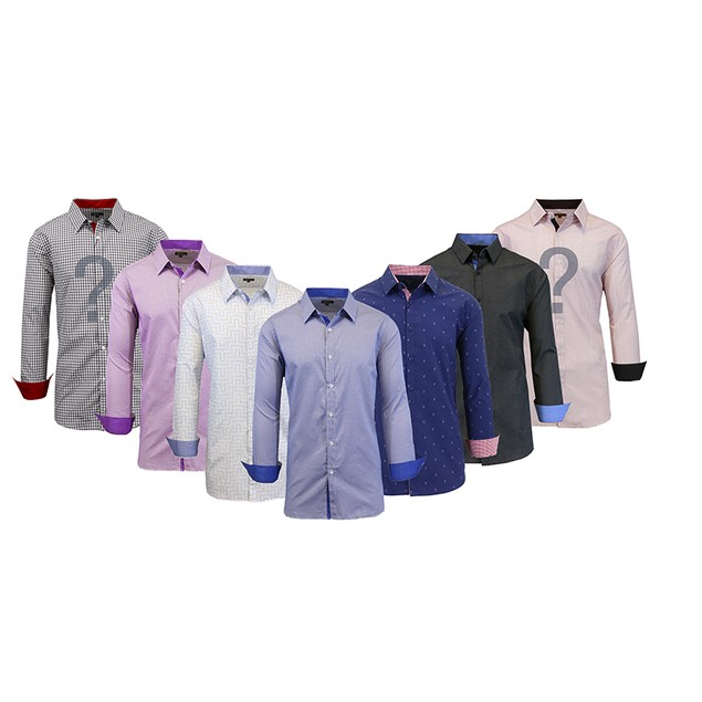 Men's Slim Fit Dress Shirts Mystery Deal (S-2X)