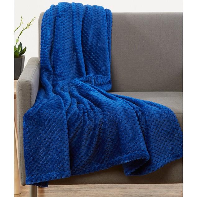 """2-Pack 50"""" x 60"""" Luxe Soft Popcorn Velvet Throw Blanket"""