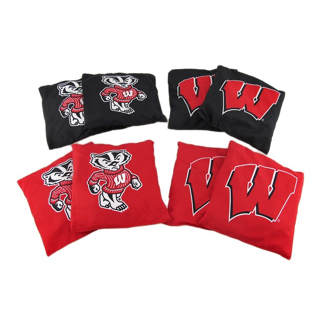 Ncaa Wisconsin Badgers Licensed Tailgate Toss Cornhole Game Bags
