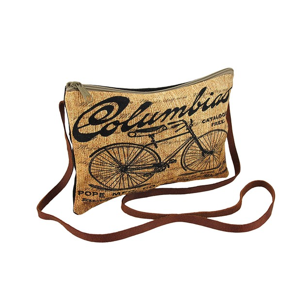 Cotton And Canvas Bicycle Theme Small Crossbody Womens Cross Body Bags