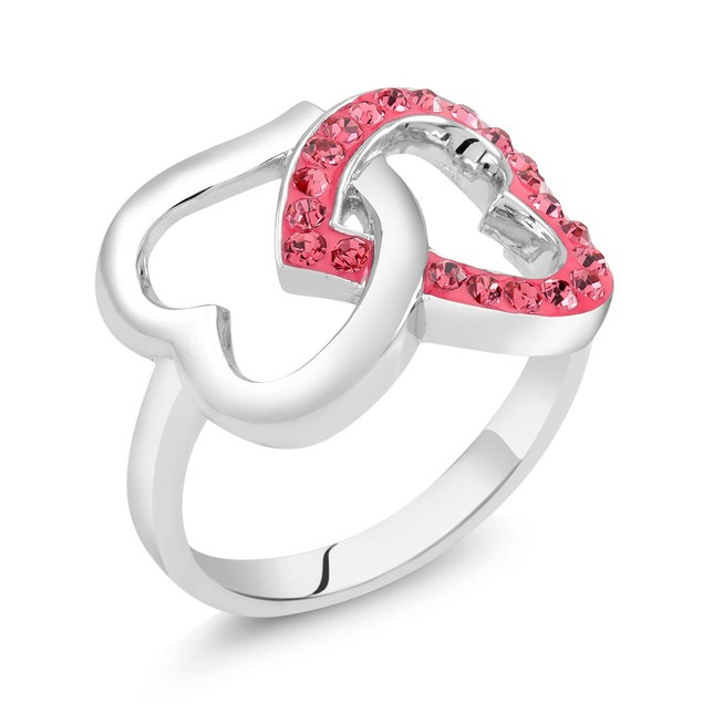 Crystal Heart Rings - 5 Styles