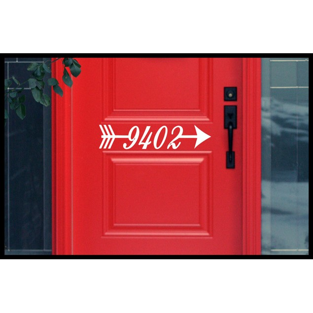 Arrow Address Door Mailbox Decal