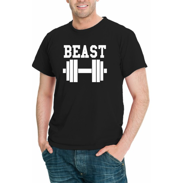 Beast Men Funny T-Shirt Short Sleeve - Assorted Colors