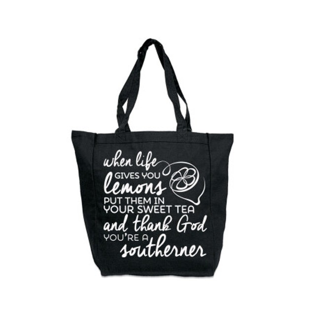 When Life Gives You Lemons Black Tote Bag