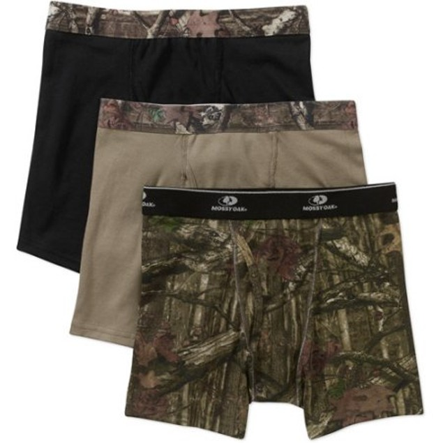 Mossy Oak Men's 3-Pack Printed Boxer Briefs