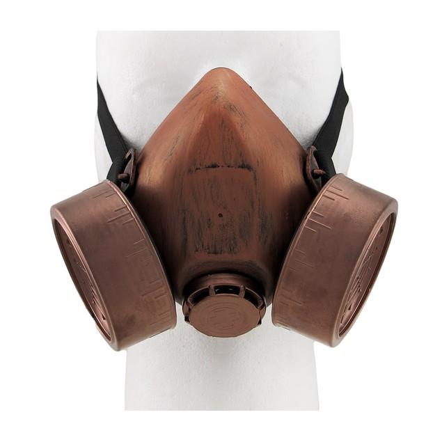 Antique Copper Finish Steampunk Respirator Mask Mens Costume Masks